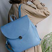 Сумки и аксессуары handmade. Livemaster - original item Blue leather women`s backpack Look. Handmade.