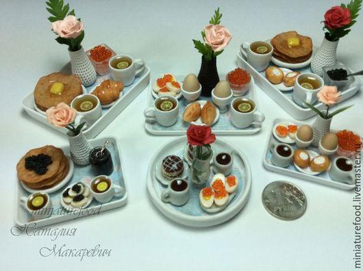 фото кукольной еды Романтический завтрак