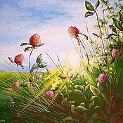 """Картины и панно ручной работы. Ярмарка Мастеров - ручная работа картина """"Солнечный клевер"""". Handmade."""