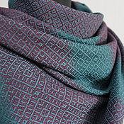 Аксессуары handmade. Livemaster - original item Hand-woven patterned scarf. Merino-cashmere-silk-cotton.. Handmade.