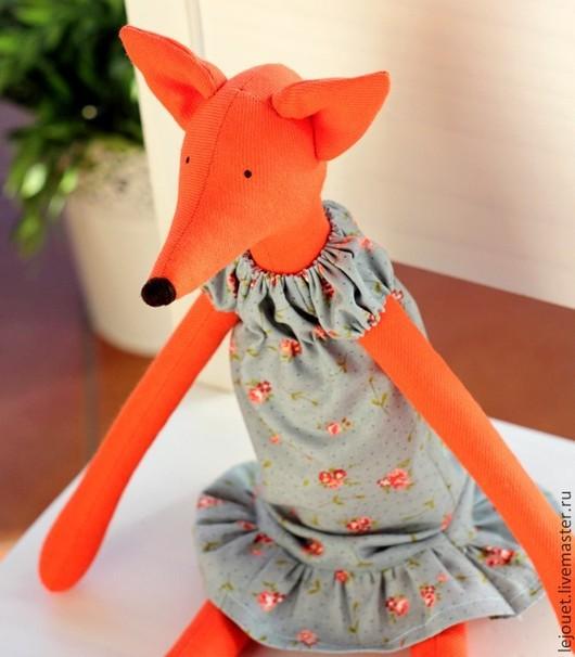 Куклы Тильды ручной работы. Ярмарка Мастеров - ручная работа. Купить Лиса. Лисичка. Игрушка лиса. Handmade. Лиса игрушка
