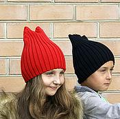 Работы для детей, ручной работы. Ярмарка Мастеров - ручная работа Шапка с ушками 100% хлопок. Handmade.