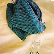 Косметички ручной работы. Ярмарка Мастеров - ручная работа Косметички: глубокая зелень. Handmade.