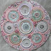 Картины и панно handmade. Livemaster - original item Volume rose pattern embroidery Vintage lace. Handmade.
