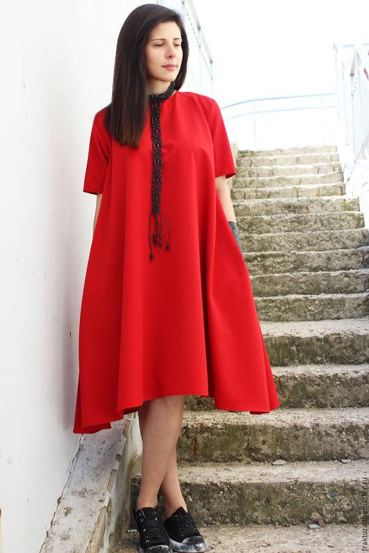 """Платья ручной работы. Ярмарка Мастеров - ручная работа. Купить Платье """"Spring Half in Red"""" D0027. Handmade. Платье"""