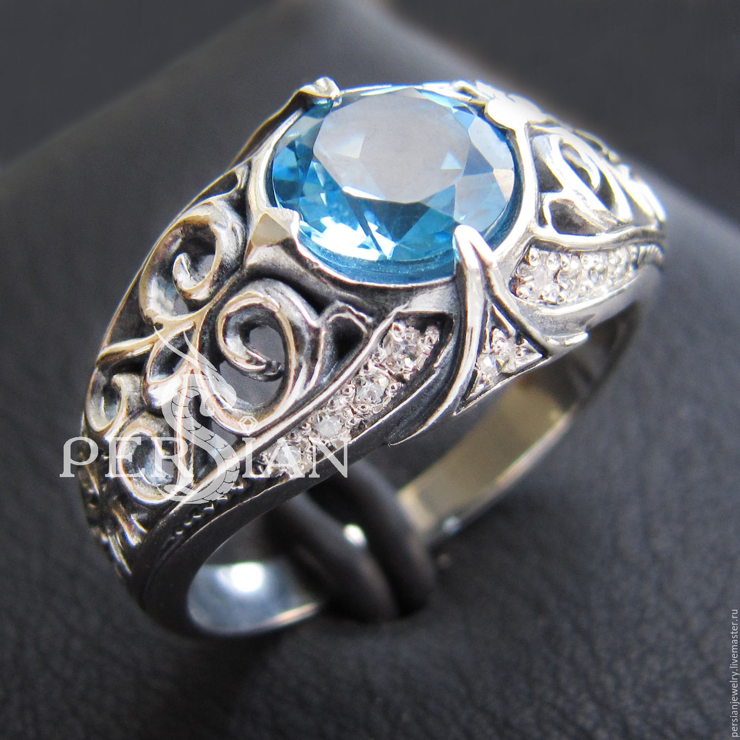 ELVISH RING WITH TOPAZ SWISS 'ESTINAE', Rings, Sevastopol,  Фото №1