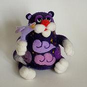 """Куклы и игрушки ручной работы. Ярмарка Мастеров - ручная работа Войлочная фигурка — """"Ночь кот соловей"""". Handmade."""