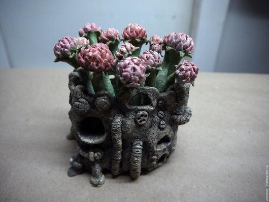 Вазы ручной работы. Ярмарка Мастеров - ручная работа. Купить Цветочная ваза. Handmade. Шамотная глина, ваза, полевые цветы