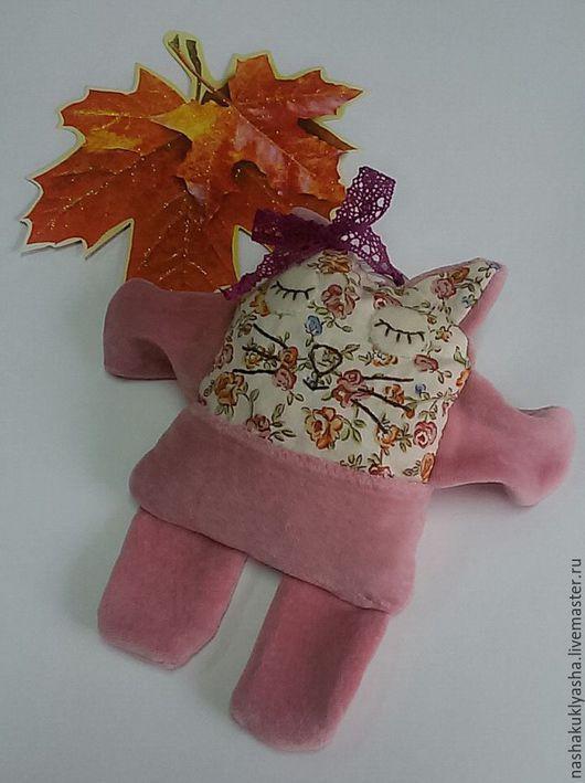 Игрушки животные, ручной работы. Ярмарка Мастеров - ручная работа. Купить Сплюшка-грелочка Кошечка. Handmade. Розовый, текстильная игрушка