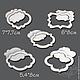 Чипборд Рамки 10 элементов, Вырубки для скрапбукинга, Москва,  Фото №1