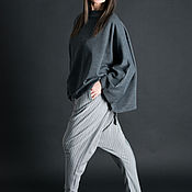 Одежда handmade. Livemaster - original item Stylish cotton harem pants free cut - PA0741CT. Handmade.