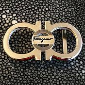 Материалы для творчества handmade. Livemaster - original item Belt buckle, made of white metal, for belts with a width of 3.8 cm. Handmade.