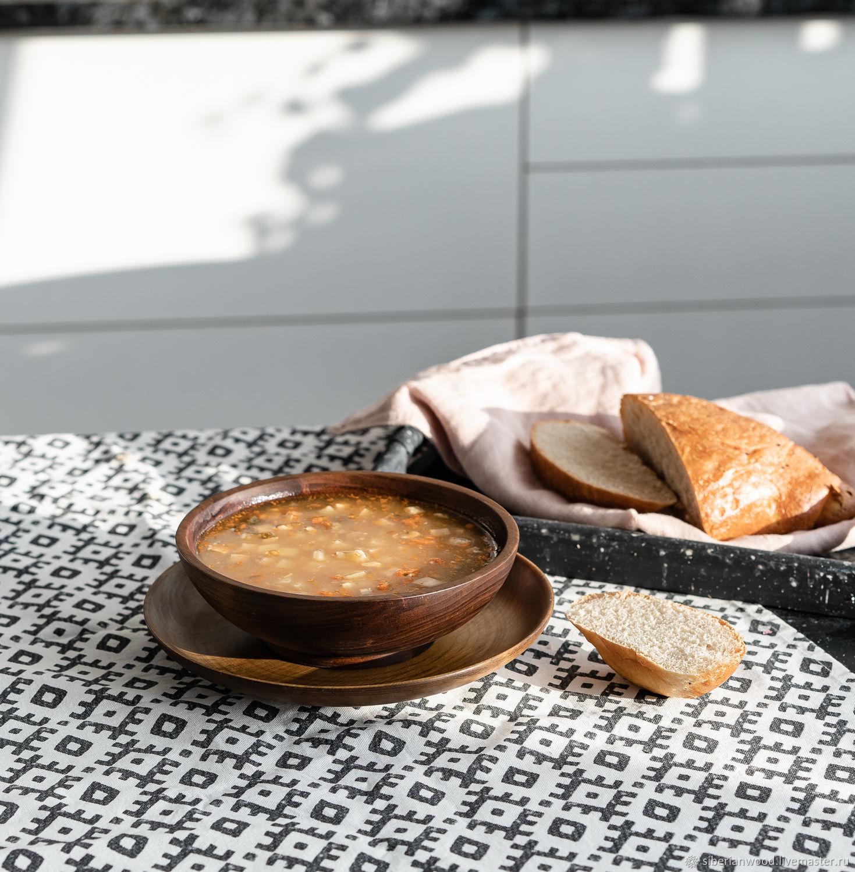 Set of wooden plates made of Siberian Cedar 2 PCs. TN50, Dinnerware Sets, Novokuznetsk,  Фото №1