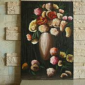 """Картины и панно ручной работы. Ярмарка Мастеров - ручная работа картина маслом """"Цветы"""". Handmade."""
