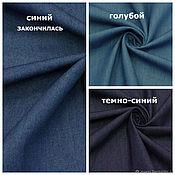 Материалы для творчества handmade. Livemaster - original item FABRIC DENIM DRESS-SHIRT EURO TEX SRL-2 COLORS. Handmade.