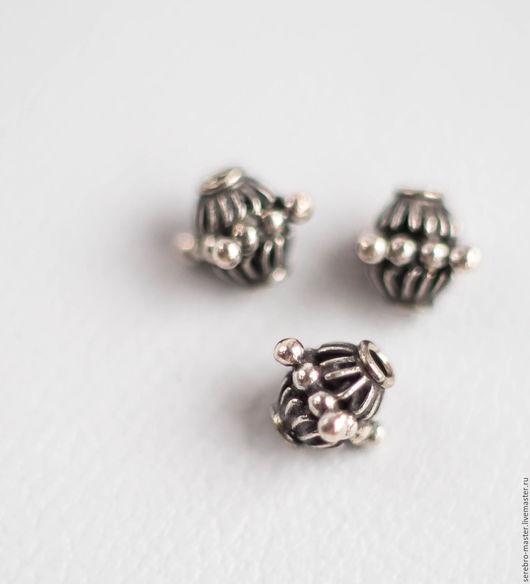 Для украшений ручной работы. Ярмарка Мастеров - ручная работа. Купить Бусина серебро 925 пробы    Арт 2105. Handmade.
