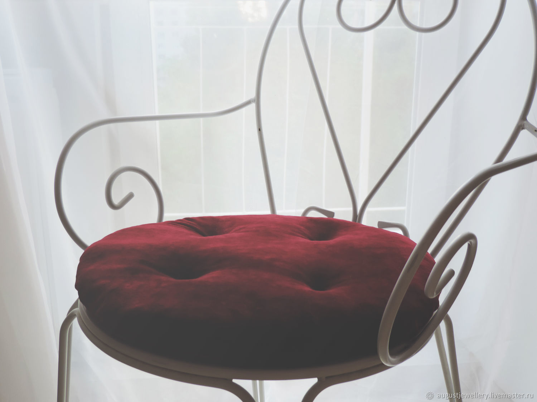 Maroon decorative velour pillow, Pillow, Kharkiv,  Фото №1