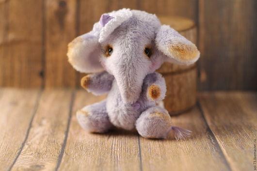 Мишки Тедди ручной работы. Ярмарка Мастеров - ручная работа. Купить Лавандовый слон! 8 см!. Handmade. Мишки тедди
