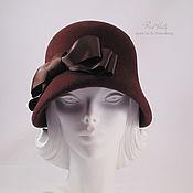 """Аксессуары ручной работы. Ярмарка Мастеров - ручная работа Шляпка клош """"Nathalie"""", велюр. Handmade."""