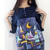 """Одежда ручной работы. Ярмарка Мастеров - ручная работа Блузка  """"Лунная ночь"""". Handmade."""