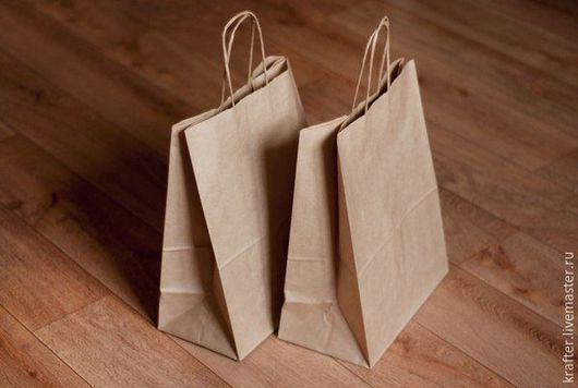 Упаковка ручной работы. Ярмарка Мастеров - ручная работа. Купить Пакет 45х35х15 с круч.ручками (100шт). Handmade. Крафт упаковка