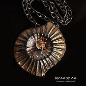 Украшения handmade. Livemaster - original item Asterodea pendant black with crystal glaze. Handmade.
