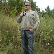 Одежда ручной работы. Ярмарка Мастеров - ручная работа пуловер мужской валяный Летние сумерки. Handmade.