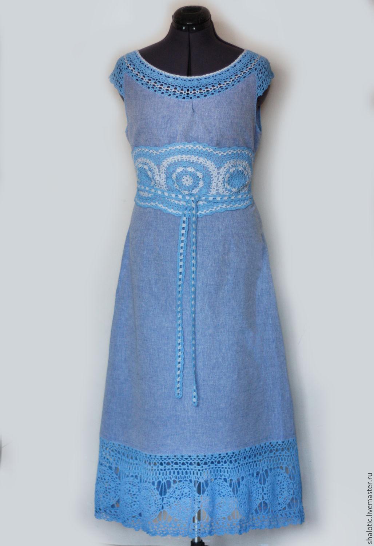 Украсить льняное платье своими руками