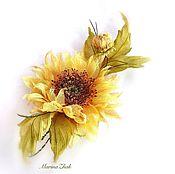Цветы и флористика handmade. Livemaster - original item Sunflower silk -