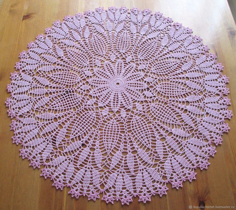 Openwork napkin, decorative napkin, home decor, diameter 56cm, Doilies, Krasnodar,  Фото №1