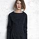Платья ручной работы. черное приталенное платье, отделка отстрочками. Vera Olshvang. Интернет-магазин Ярмарка Мастеров. Однотонный