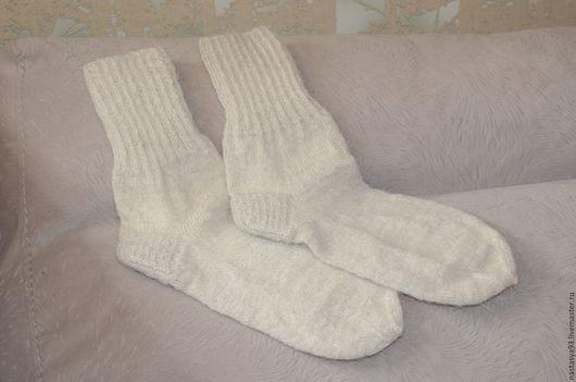 Носки, Чулки ручной работы. Ярмарка Мастеров - ручная работа. Купить теплые носочки. Handmade. Вязаные носки, шерсть с пухом