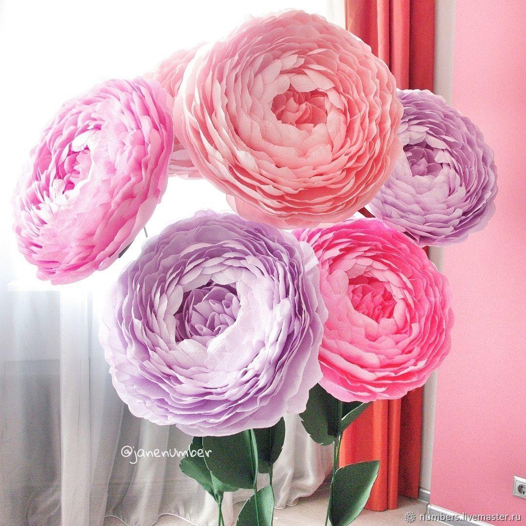 Большие пионы на стальной ножке, Свадебные цветы, Москва, Фото №1
