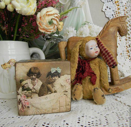 """Детская ручной работы. Ярмарка Мастеров - ручная работа. Купить Интерьерный кубик """"Винтажные фото"""". Handmade. Интерьерный кубик, для фотосессий"""
