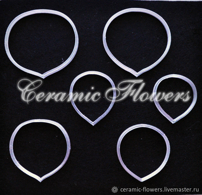 Set of Cutters rose petals 3, plastic, Cutters, Rostov-on-Don,  Фото №1