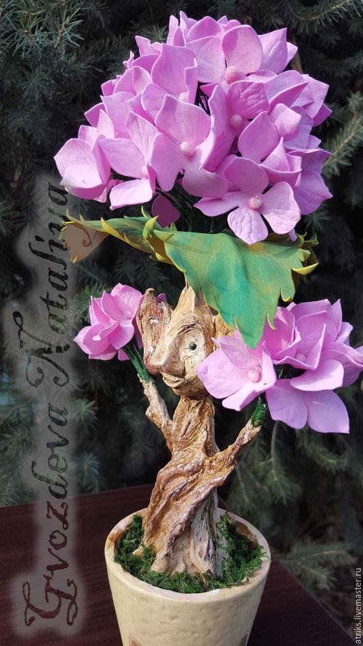 Цветы ручной работы. Ярмарка Мастеров - ручная работа. Купить Гортензия розовая. Handmade. Розовый, ручная работа, 14 февраля