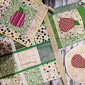 Наборы ручной работы. Ярмарка Мастеров - ручная работа Набор для кухни: фартук + 2 прихватки. Handmade.