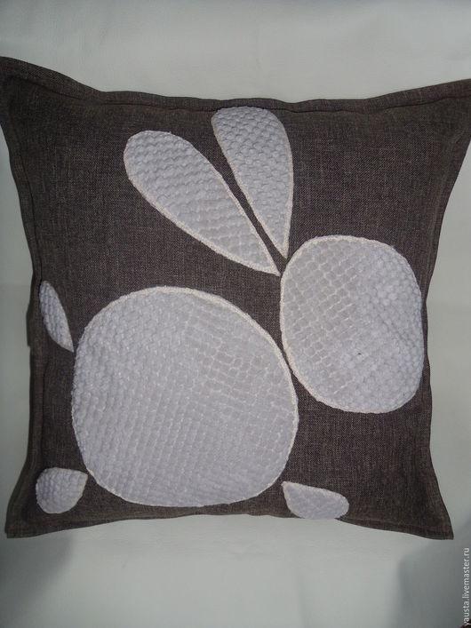 Текстиль, ковры ручной работы. Ярмарка Мастеров - ручная работа. Купить Декоративная подушка с наволочкой. Handmade. Коричневый, подушка в авто
