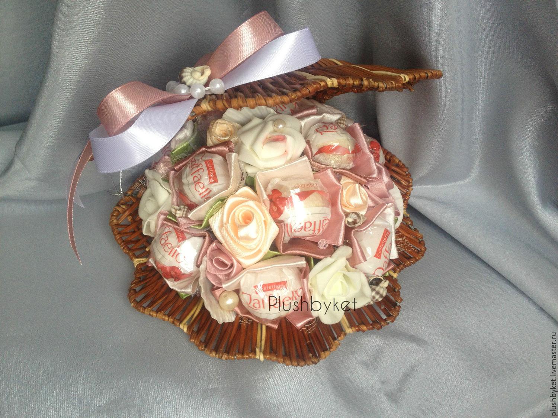 Простые букеты из конфет с пошаговым фото