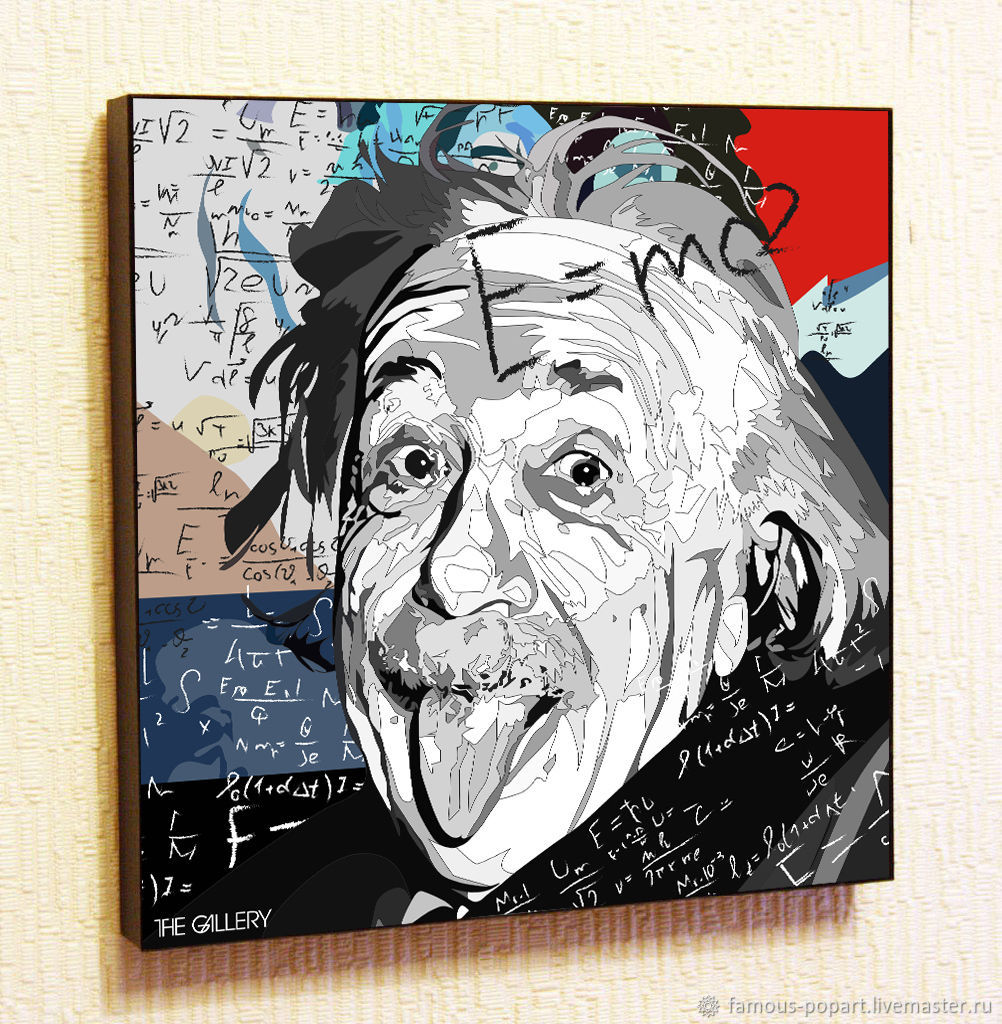 Picture poster Albert Einstein 2 in the style of Pop Art, Fine art photographs, Moscow,  Фото №1