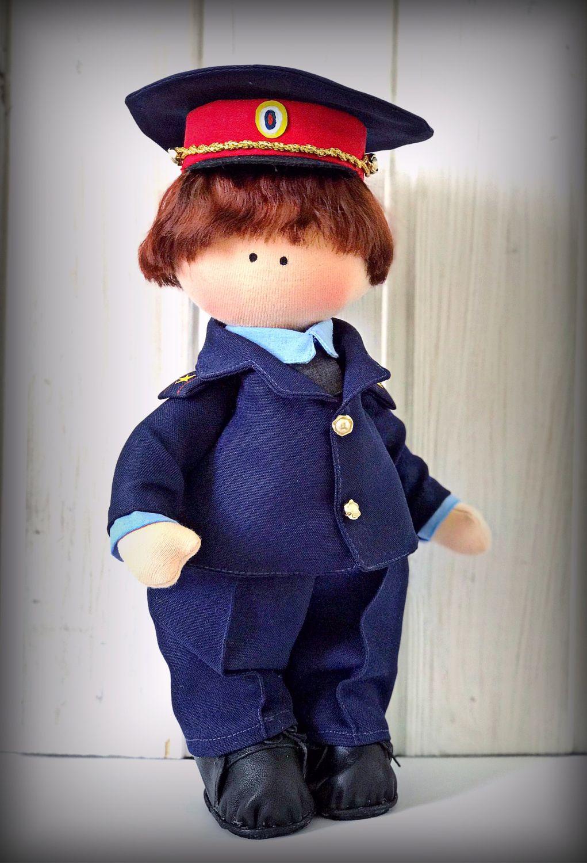 Текстильная кукла в военном стиле, Большеножка, Сызрань,  Фото №1