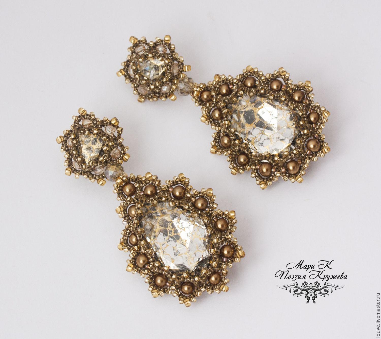 Evening earrings tatting Mercedes e designer earrings – shop online