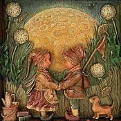 """Картины и панно ручной работы. Ярмарка Мастеров - ручная работа """"С щепоткой нашей луны в кармане"""". Handmade."""