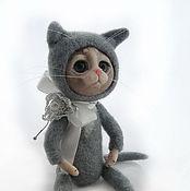 Куклы и игрушки ручной работы. Ярмарка Мастеров - ручная работа Котенок серый. Handmade.