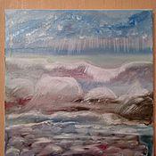 Картины и панно ручной работы. Ярмарка Мастеров - ручная работа Картина маслом Море. Handmade.