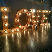 Для дома и интерьера ручной работы. Ярмарка Мастеров - ручная работа Светящиеся буквы LOVE. Handmade.