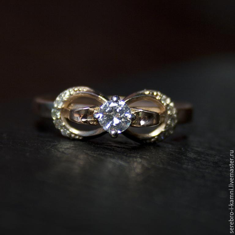 Кольца ручной работы. Ярмарка Мастеров - ручная работа. Купить золотое  кольцо Бесконечность (золото ... 9dd0e5054169c
