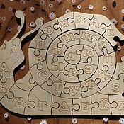 Куклы и игрушки handmade. Livemaster - original item wooden puzzle snail alphabet. Handmade.