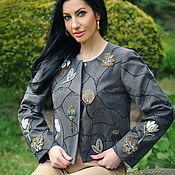 Одежда handmade. Livemaster - original item Stylish designer jacket with Dandelion embroidery