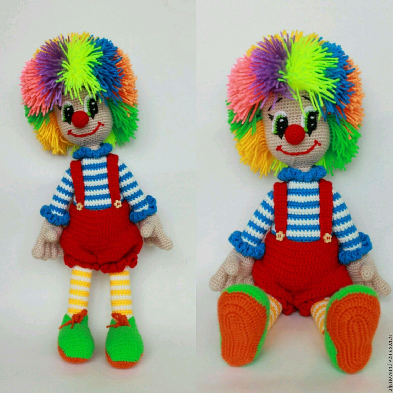 Клоун девочка крючком схема